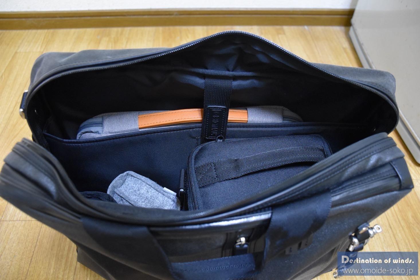 森野帆布PCバッグにMacBookとデジタル一眼を入れてみたぞ!