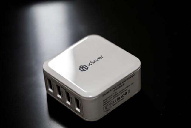 【レビュー】超軽量4Port USB充電器「iClever 4ポート」出張行くならコレじゃない!?