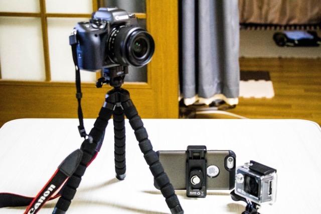 【レビュー】iPhoneに!アクションカメラに!携帯用ミニ三脚AUKEY CP-T03が充実しすぎている!