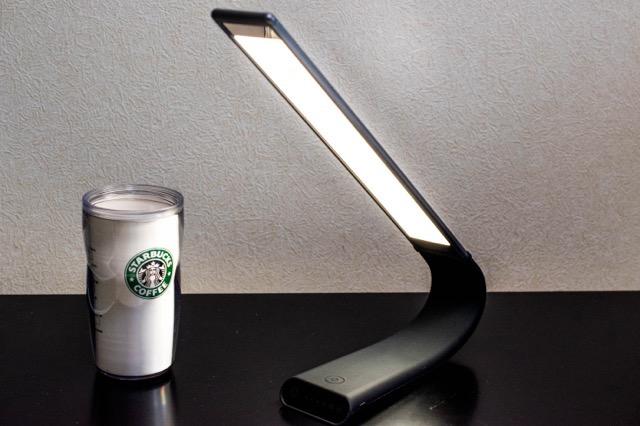 【レビュー】1byone ポータブルLEDデスクライトは電池式で写真撮影用ライトにも最適!